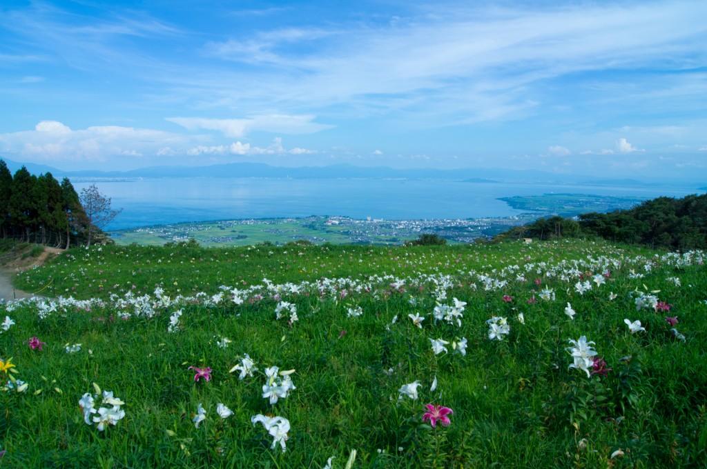 琵琶湖へと続く
